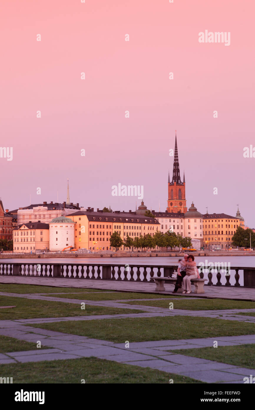 View of Gamla Stan (Old city) in Stockholm, Sweden - Stock Image