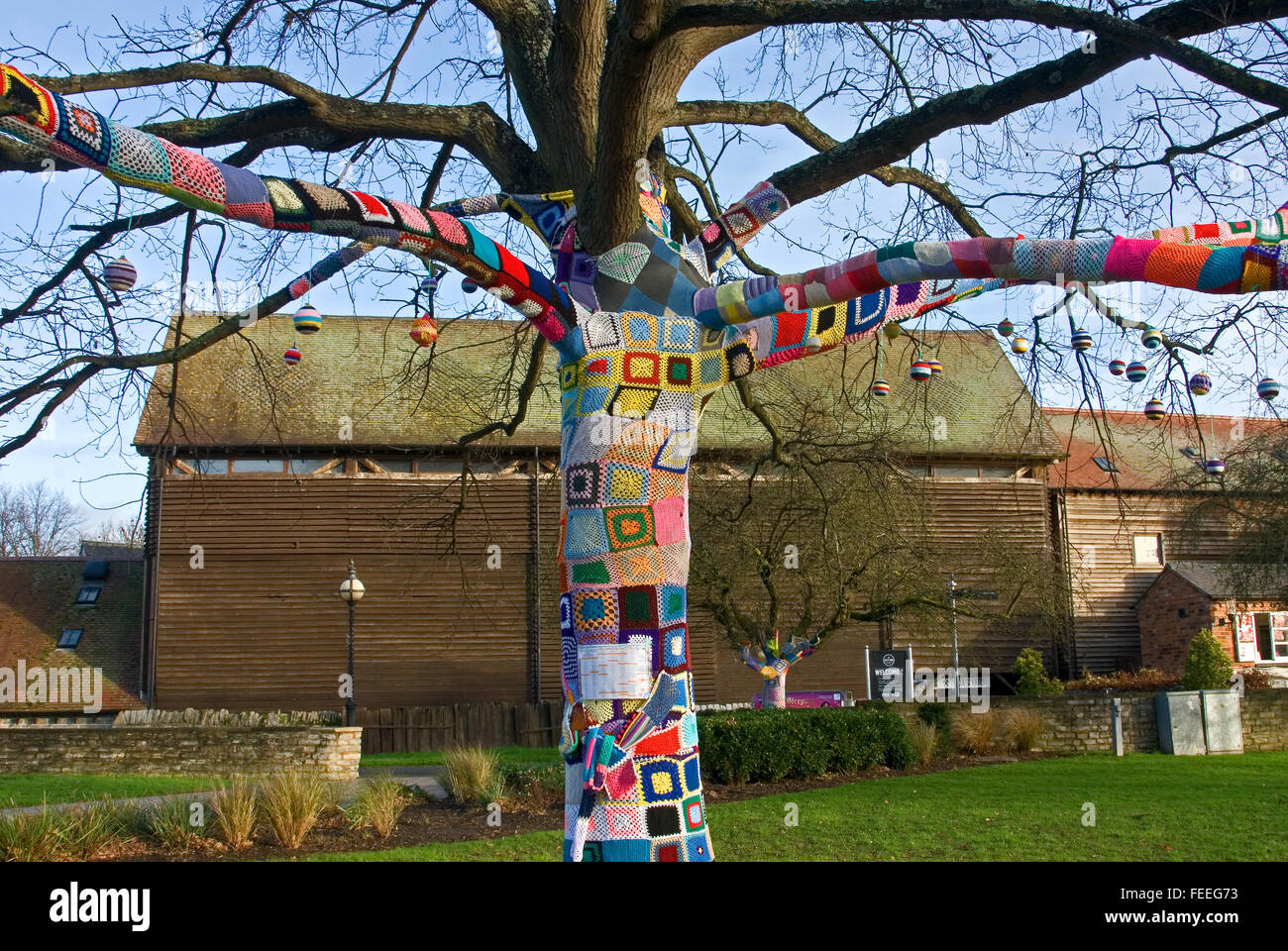 Remembering Tree in Bancroft Gardens in the centre of Stratford upon Avon - Stock Image