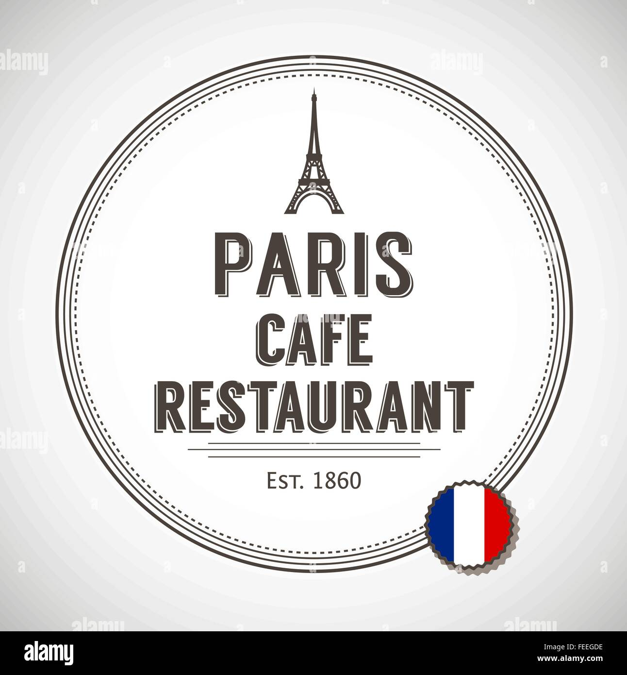 Brasserie Paris Badge Stock Vector Image Art Alamy