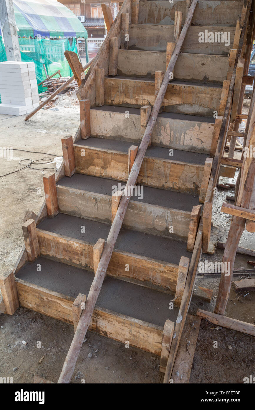 Staircase Cement Concrete Structure In Residential House
