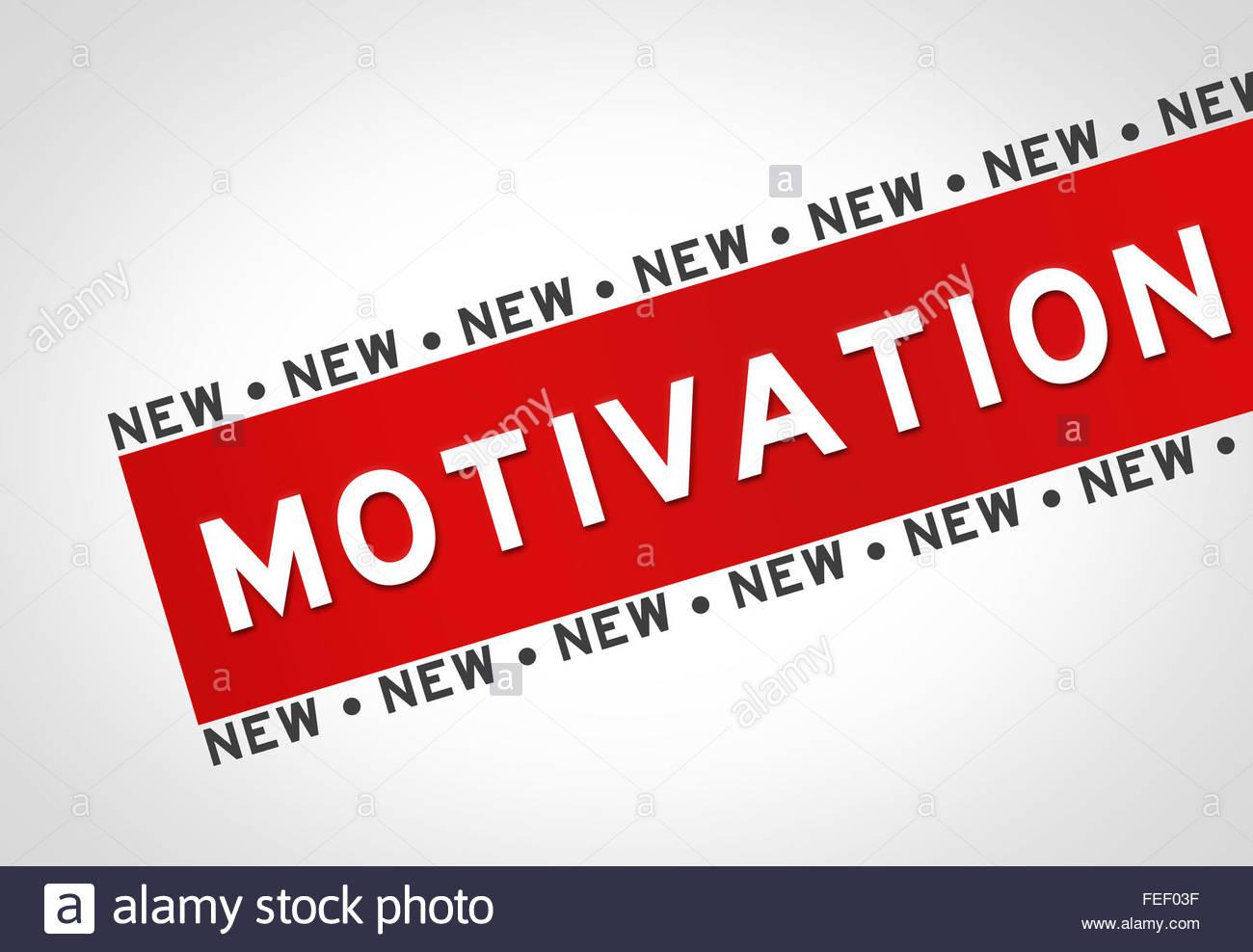 Motivation - concept illustration - Stock Image