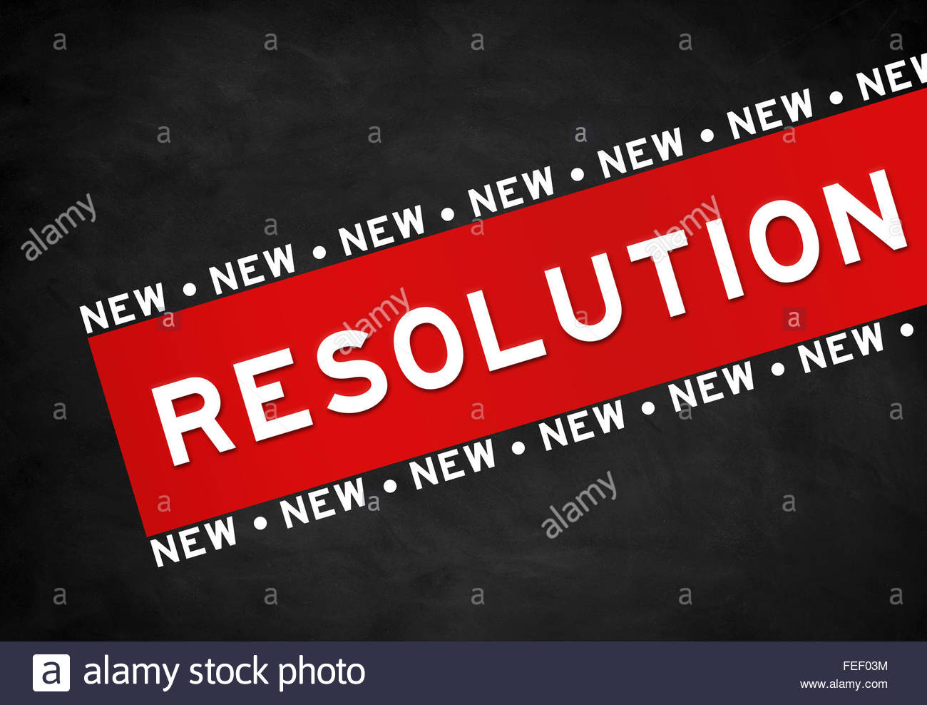 Resolution - chalkboard concept - Stock Image