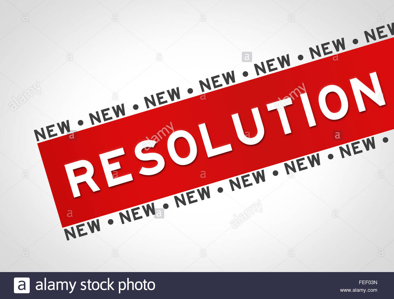 Resolution - illustration concept - Stock Image