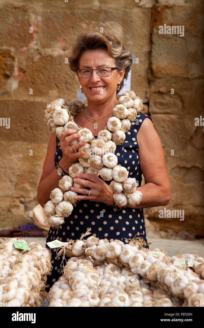 Woman in  Berbinzana ecological fair - Stock Image