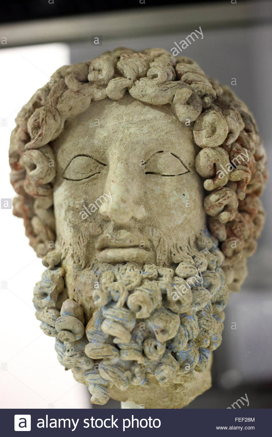 Italy Enna Sicily February 4 2016 The Looted Head Of The Greek