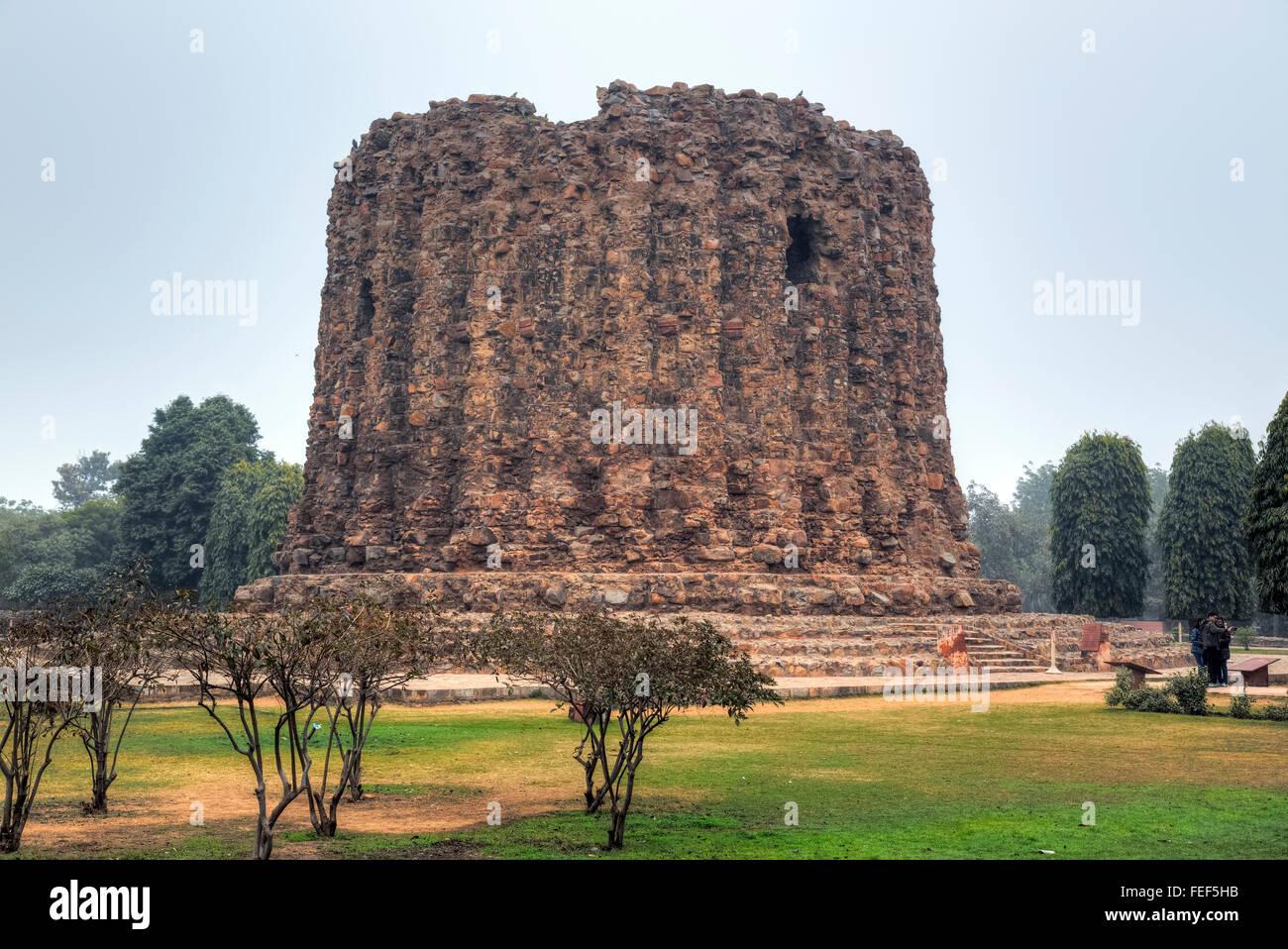 Alai Minar, Qutb complex, Delhi, India, Asia - Stock Image