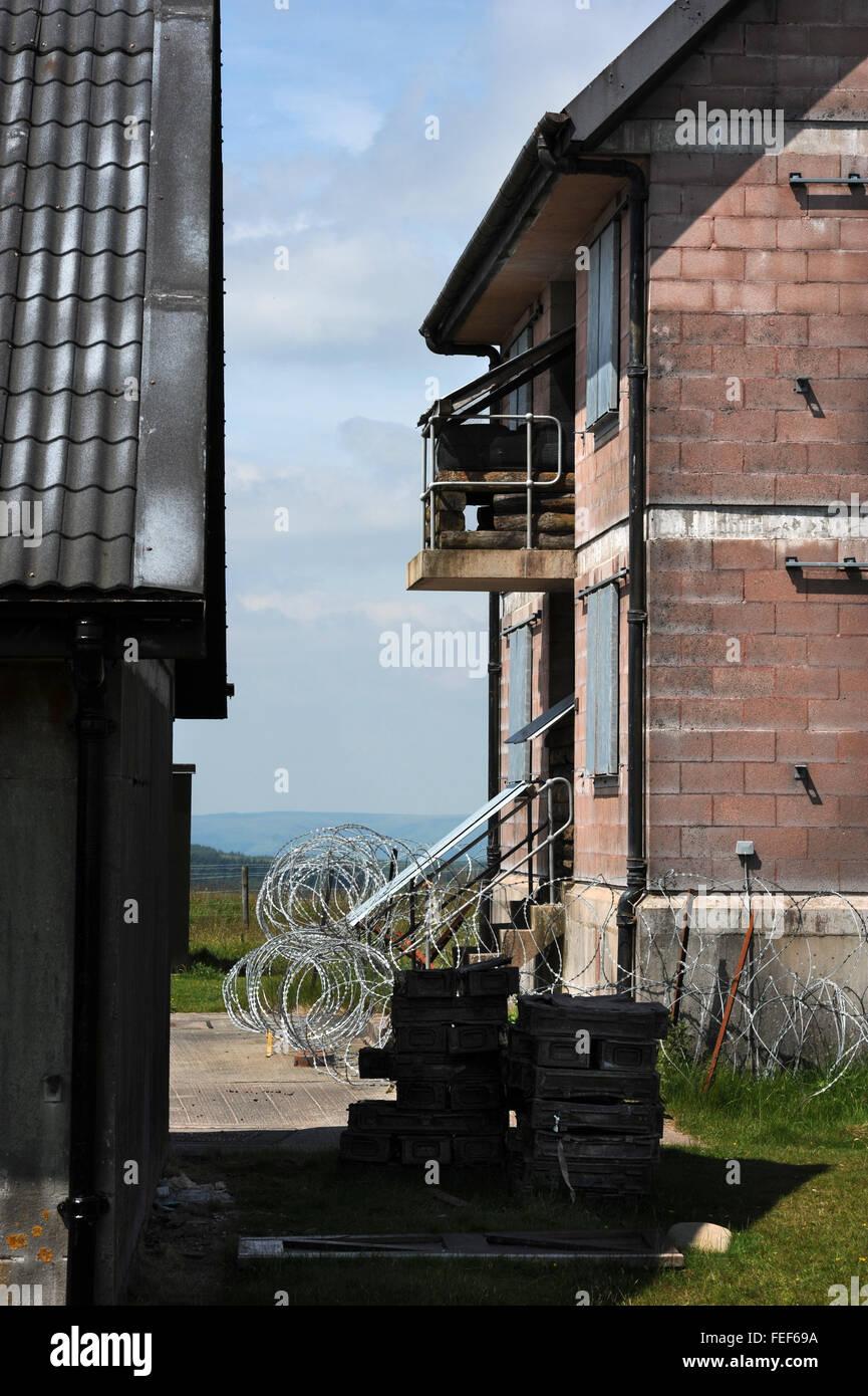 The MOD army training village near Brecon UK - Stock Image