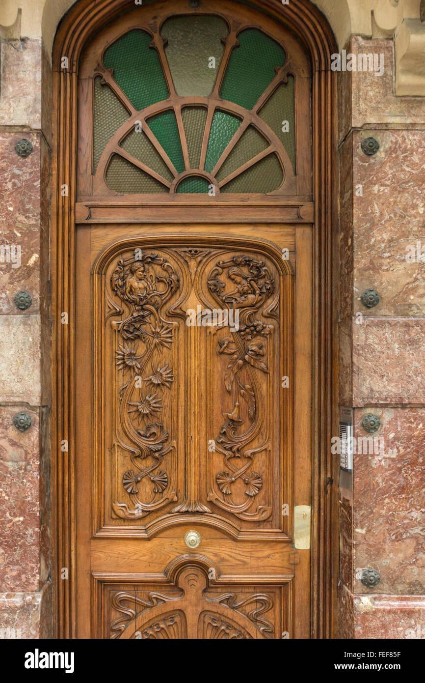 Door, urbieta kalea, San Sebastian, Donostia, Spain - Stock Image