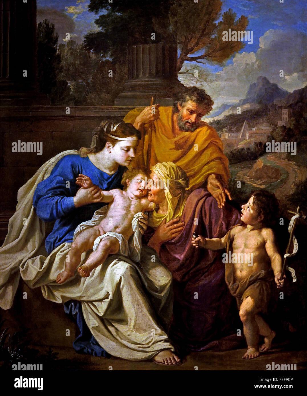 Image De Noel Jesus.Holy Family With St Elizabeth And John The Baptist Noel