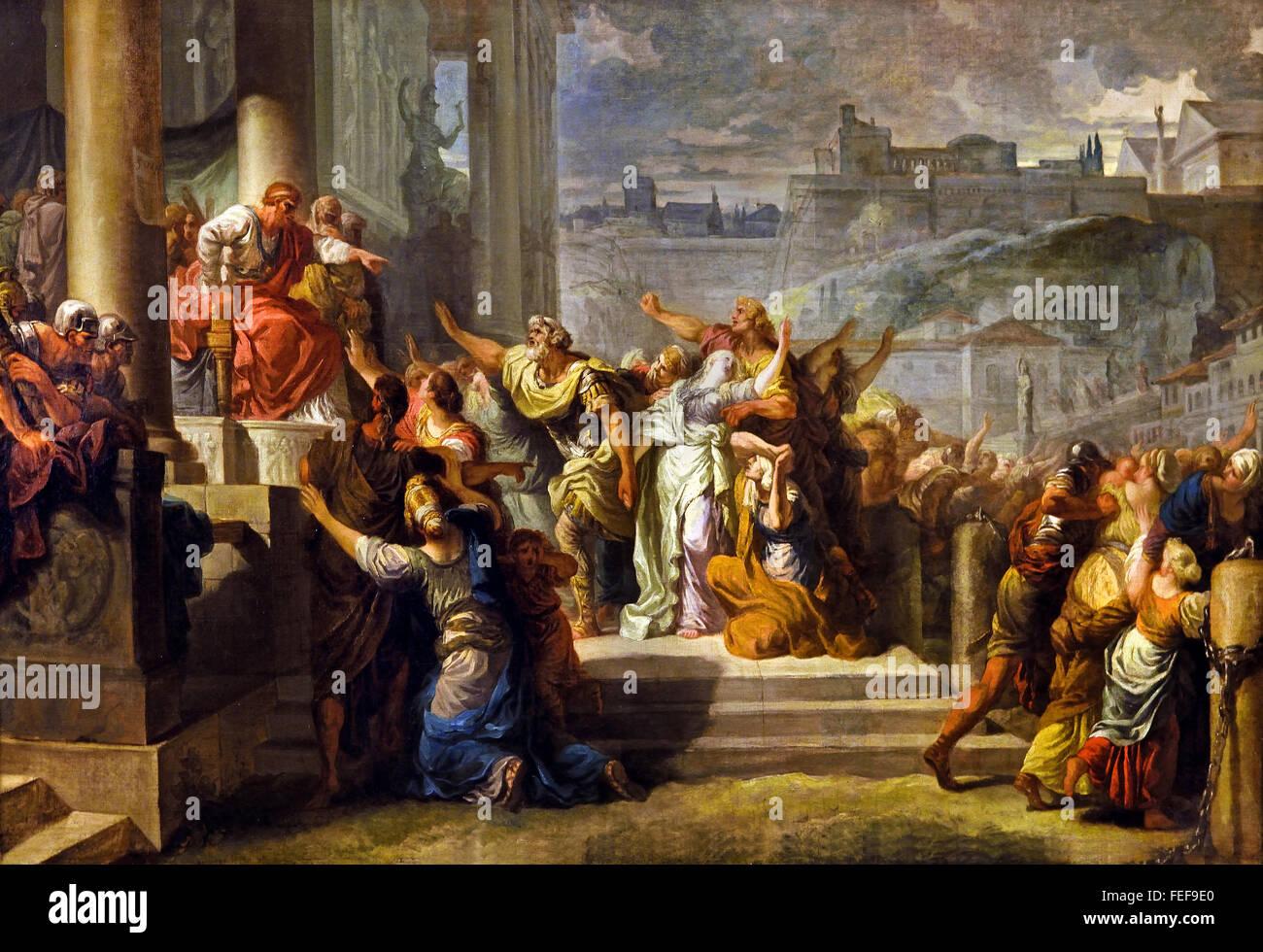 La Mort de Virginie - The Death of Verginia 1759 by Gabriel François Doyen 1726-1806   France French ( Verginia - Stock Image