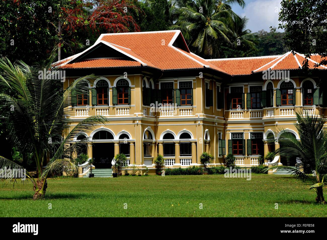 Phuket City Thailand Restored Neo Colonial Style Mansion In The Historic Quarter On