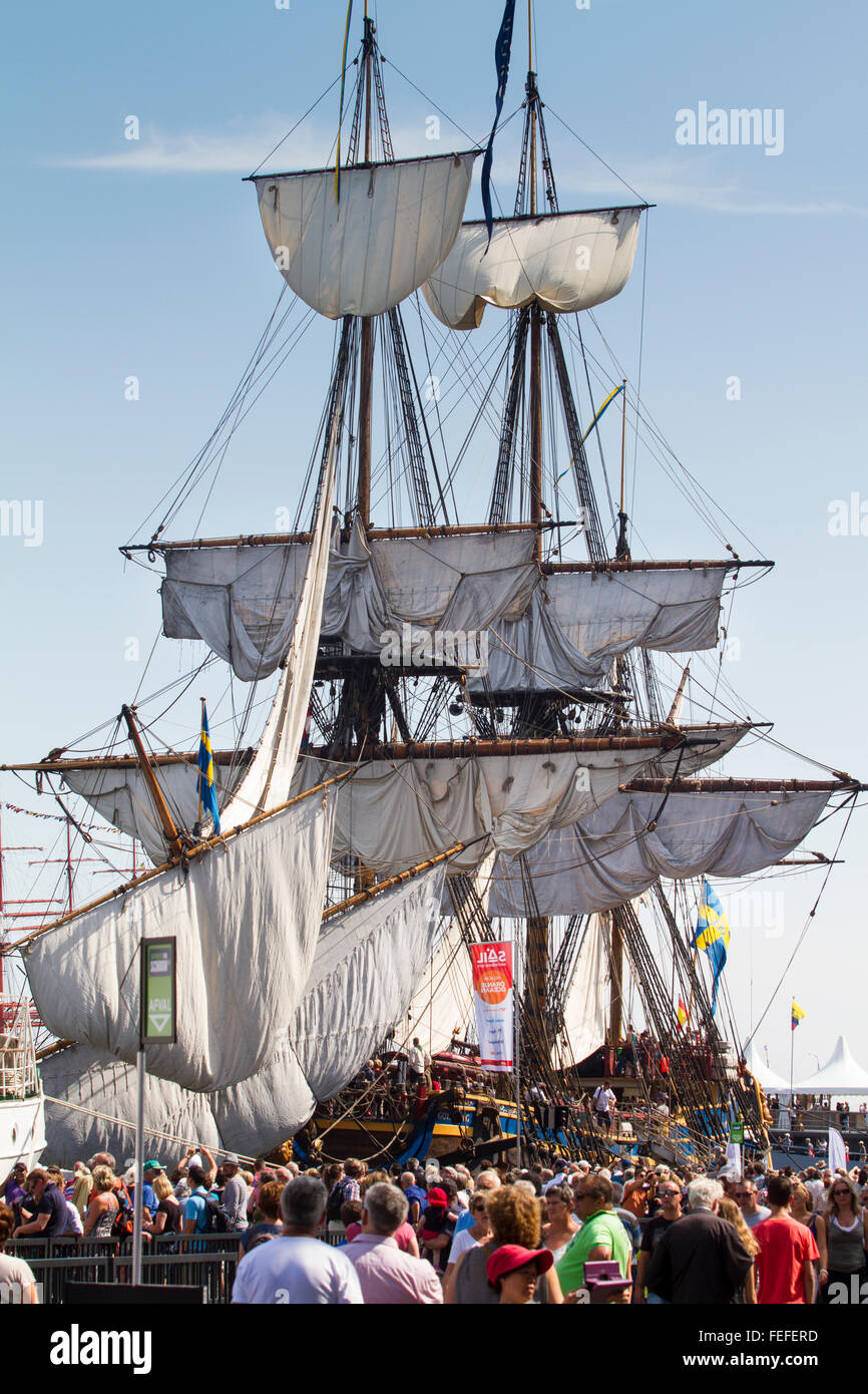 Tall Ship at the summer 2015 Sail event Amsterdam, Netherlands - Stock Image