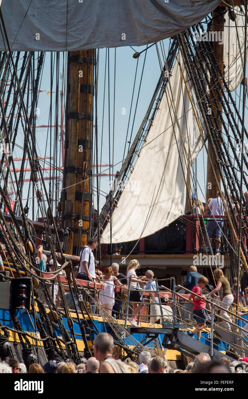 SAIL - Amsterdam 2015,  Götheborg ship - Stock Image