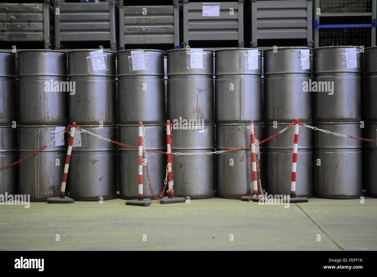 nuclear waste at the Greifswald power station, performing the world's largest decommissioning project of 8 reactor - Stock Image