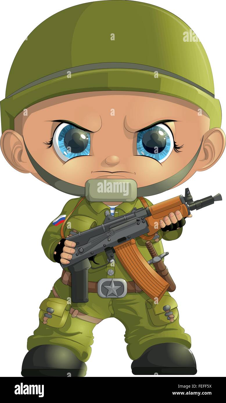 soldiers by 23 February - Stock Vector