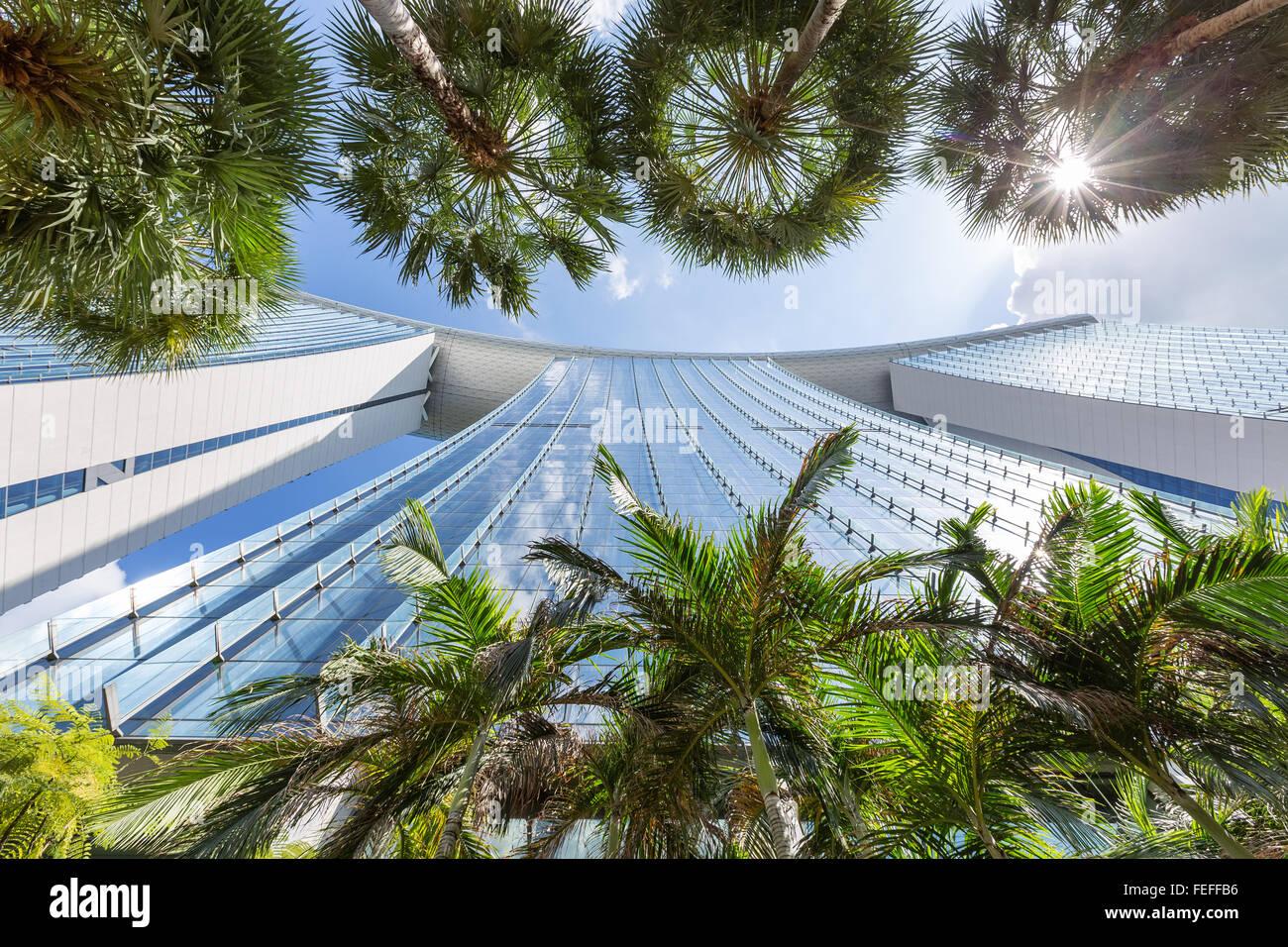 Luxurious Marina Sands hotel in Singapore - Stock Image