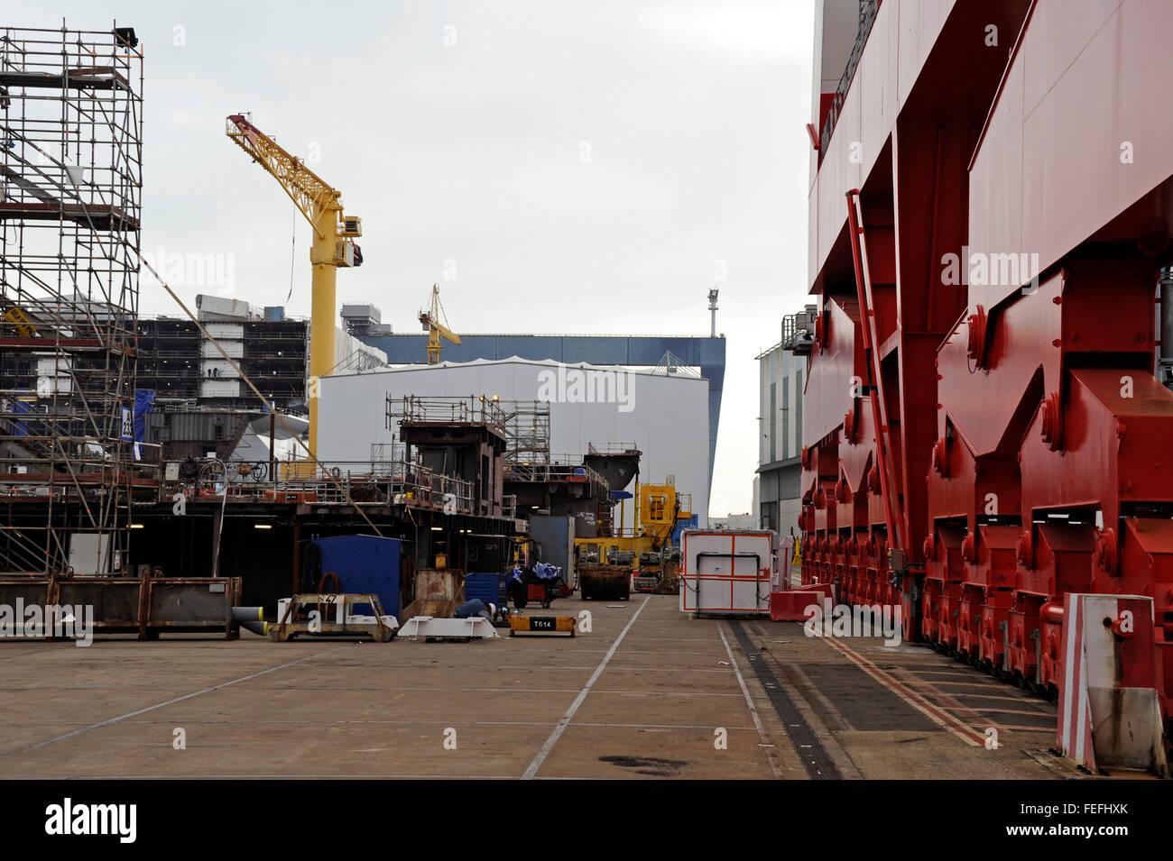 Shipyards of Chantiers de l'Atantique,STX,Saint-Nazaire,Loire-Atlantique,Pays de Loire,France Stock Photo