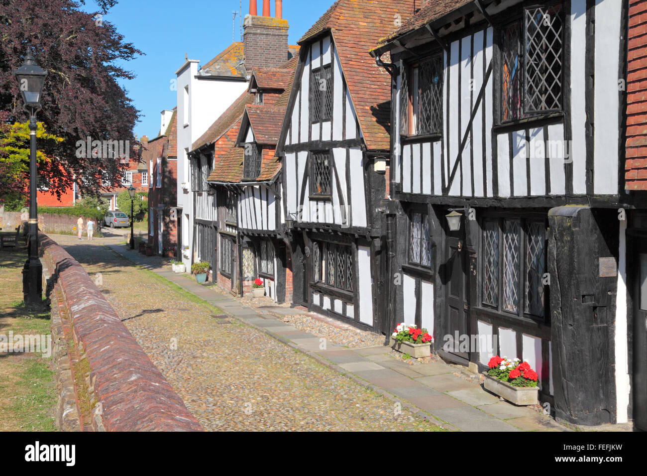 Rye, Sussex. Medieval houses in Church Square, Rye, East Sussex, England, United Kingdom, UK, Great Britain, GB Stock Photo