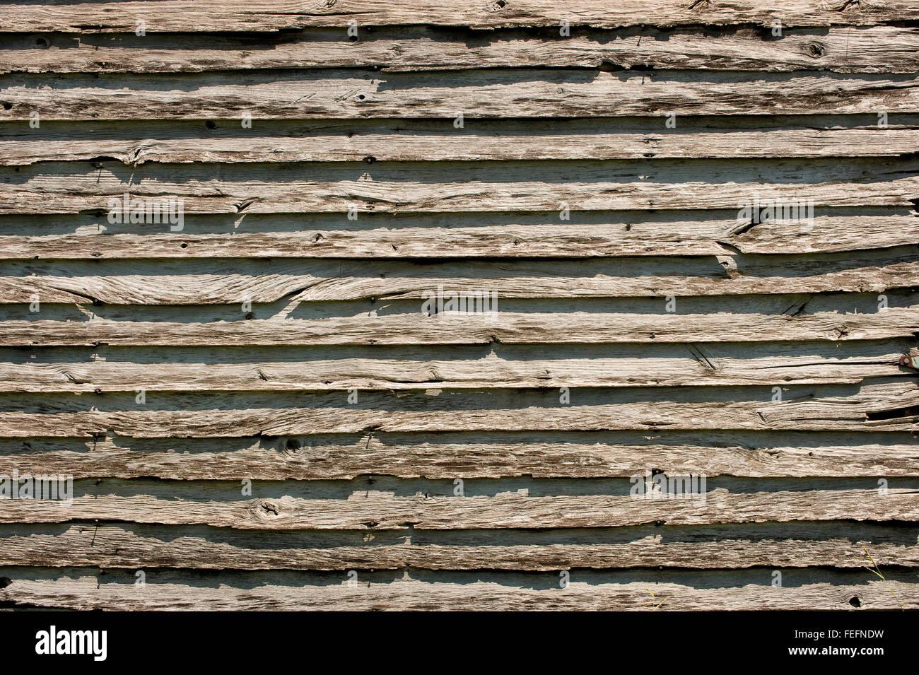 Century Old Barn Siding - Stock Image