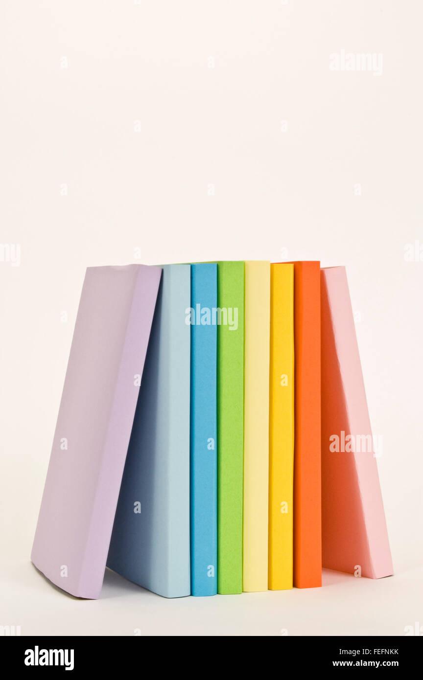 Multi-Colored Books - Stock Image