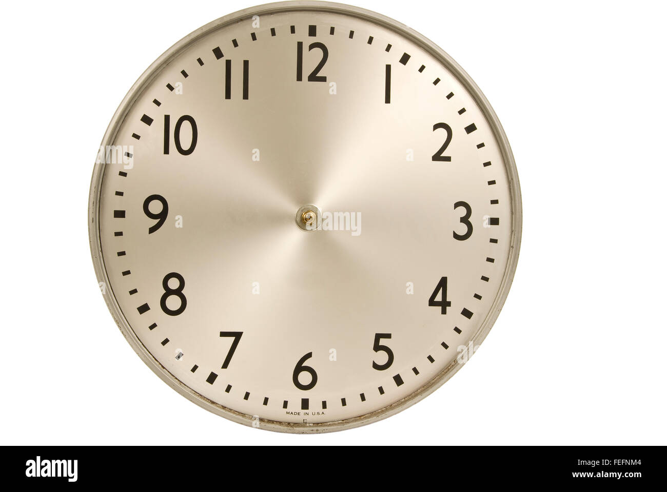 Old Industrial Wall Clock Without Hands - Stock Image