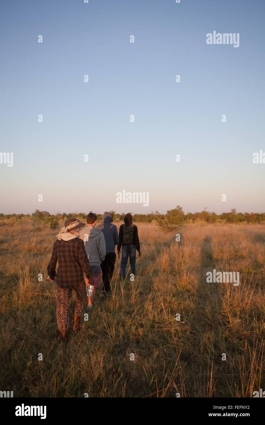 walking safari in the Okavango Delta. - Stock Image