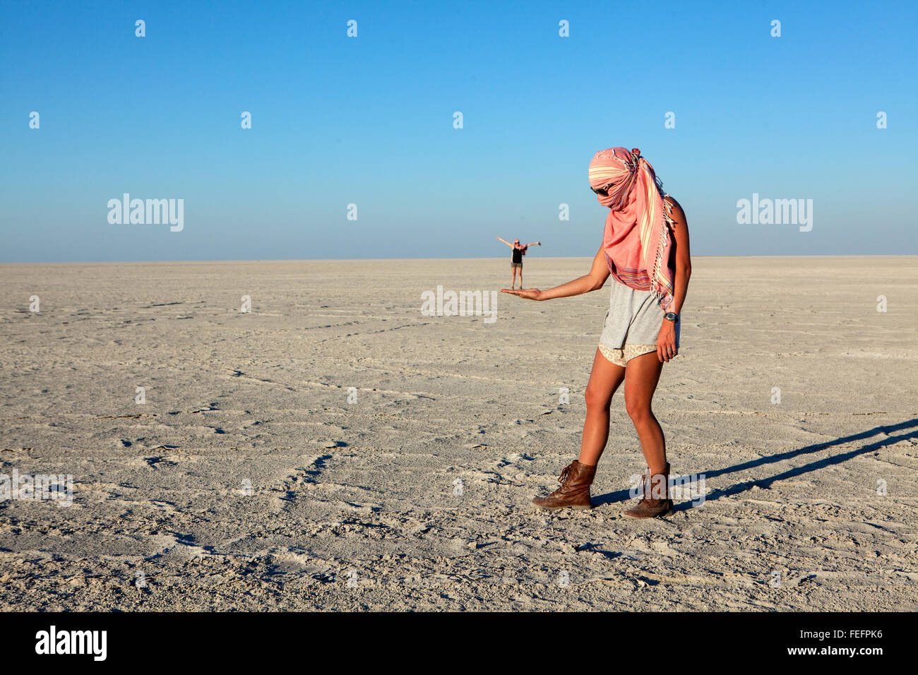 People playing with illusions - Stock Image