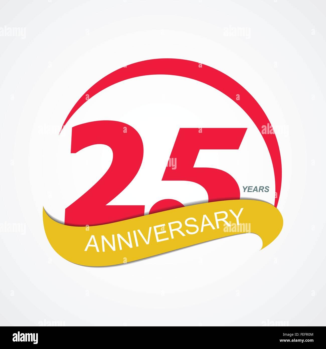 template logo 25 anniversary vector illustration stock vector art rh alamy com 25 years logo vector 25 years logo png