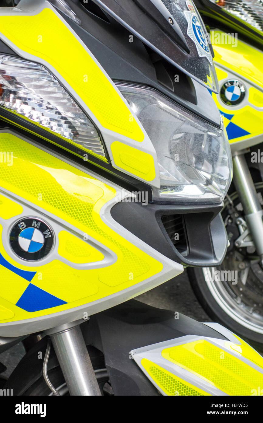 Police motorbikes - Stock Image