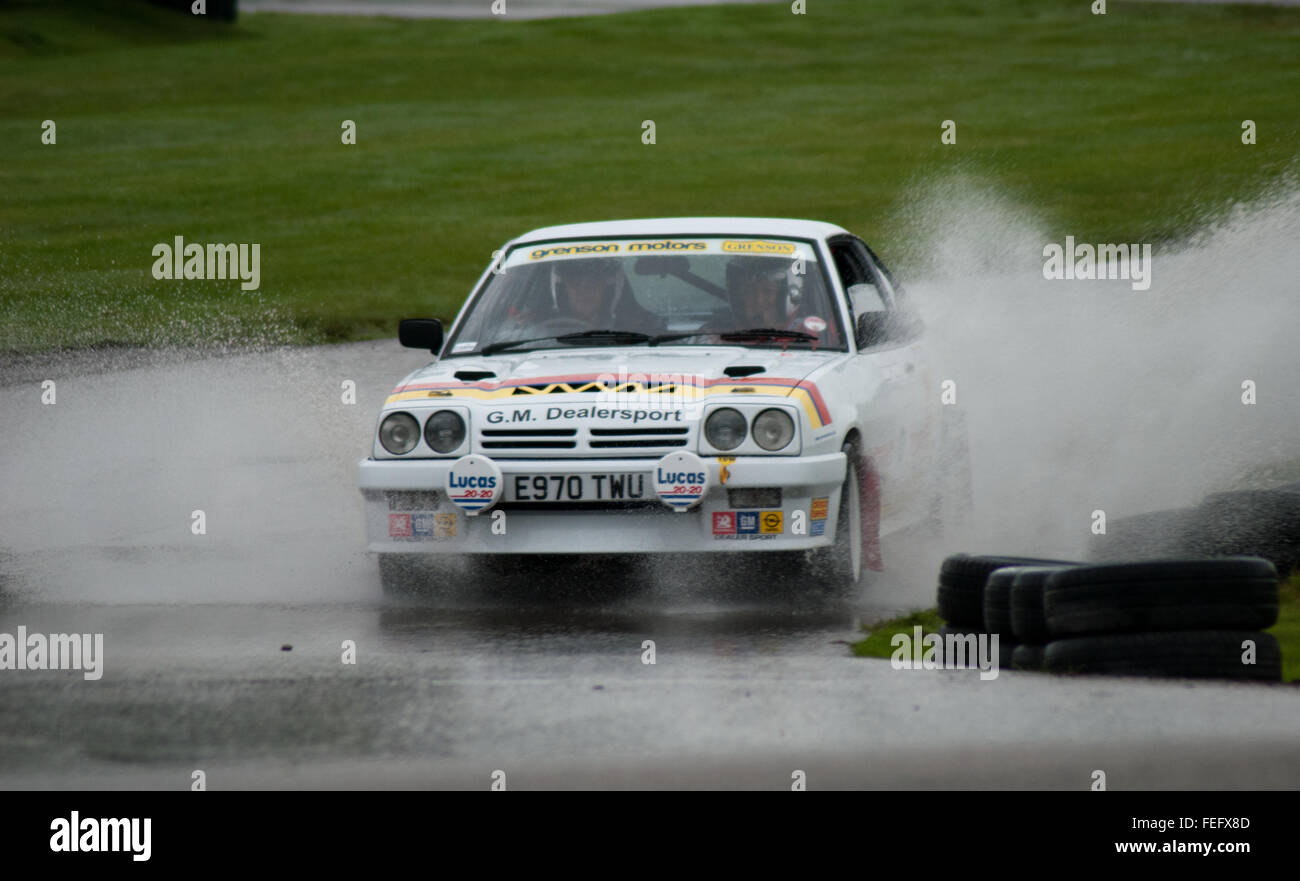 Ian Hill Opel Manta GTE at the historic Gold Cup Oulton Park Stock Photo