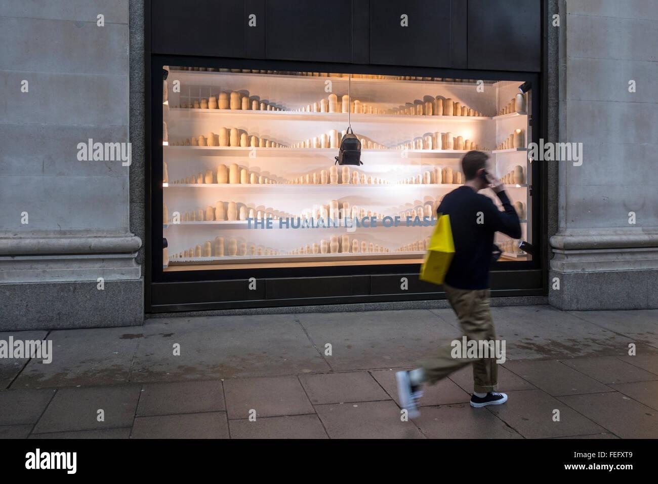 Selfridges window January 2016, Oxford Street, London, UK - Stock Image