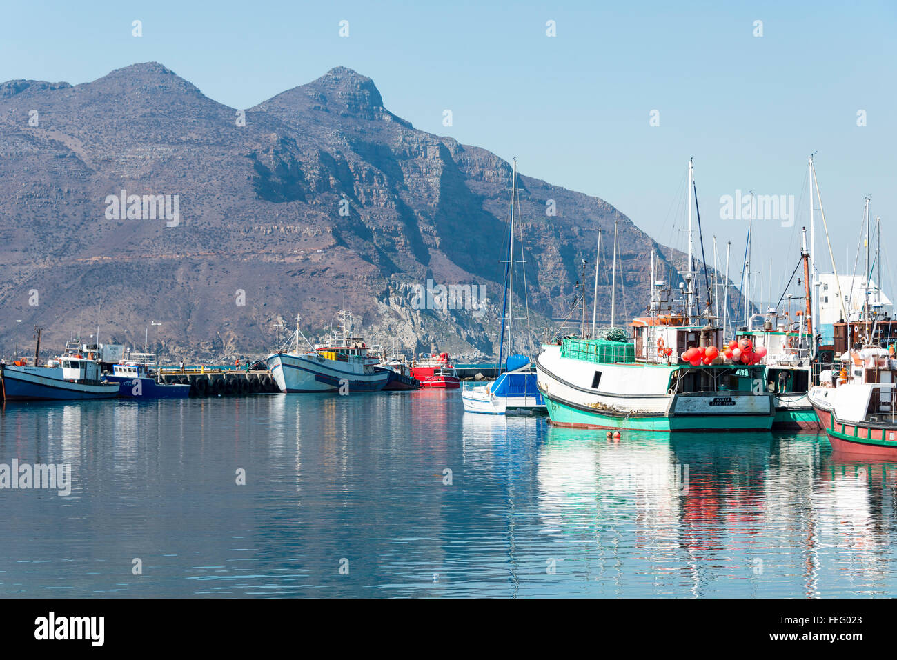 City Of Cape Town: Fishing Boats In Harbour, Hout Bay, Cape Peninsula, City