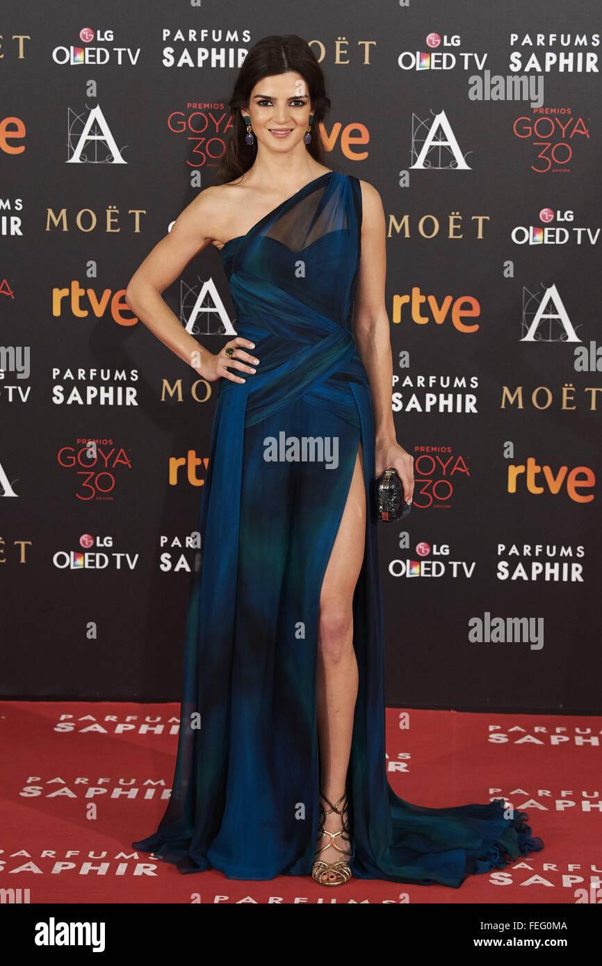 Madrid, Spain. 6th Feb, 2016. Clara Lago attends Goya Cinema Awards 2016 at Centro de Congresos Principe Felipe - Stock Image