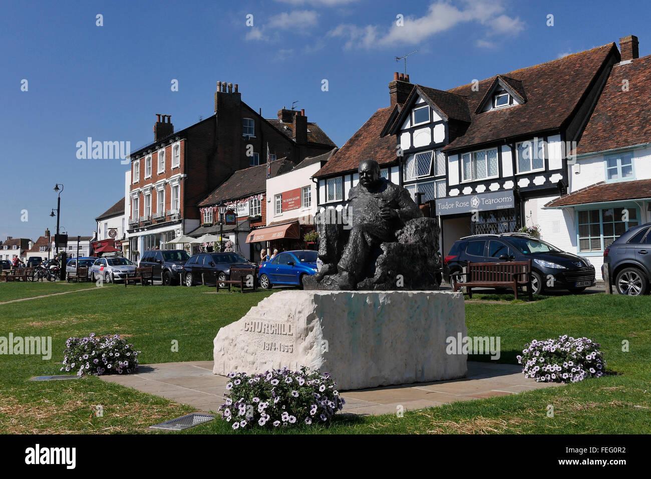 Winston Churchill Statue Westerham - Stock Image