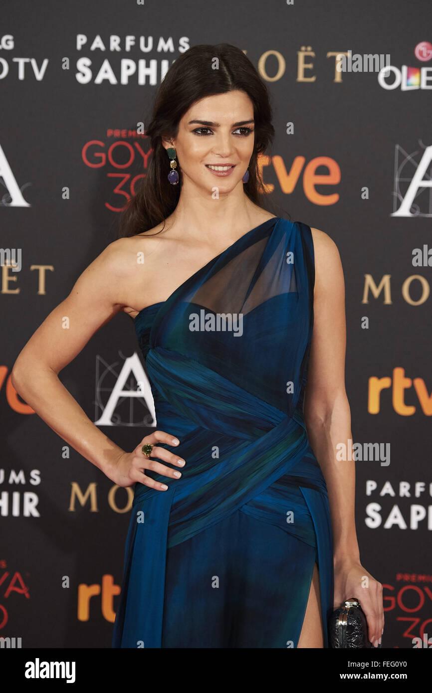Feb. 6, 2016 - Madrid, Spain - Clara Lago attends Goya Cinema Awards 2016 at Centro de Congresos Principe Felipe - Stock Image