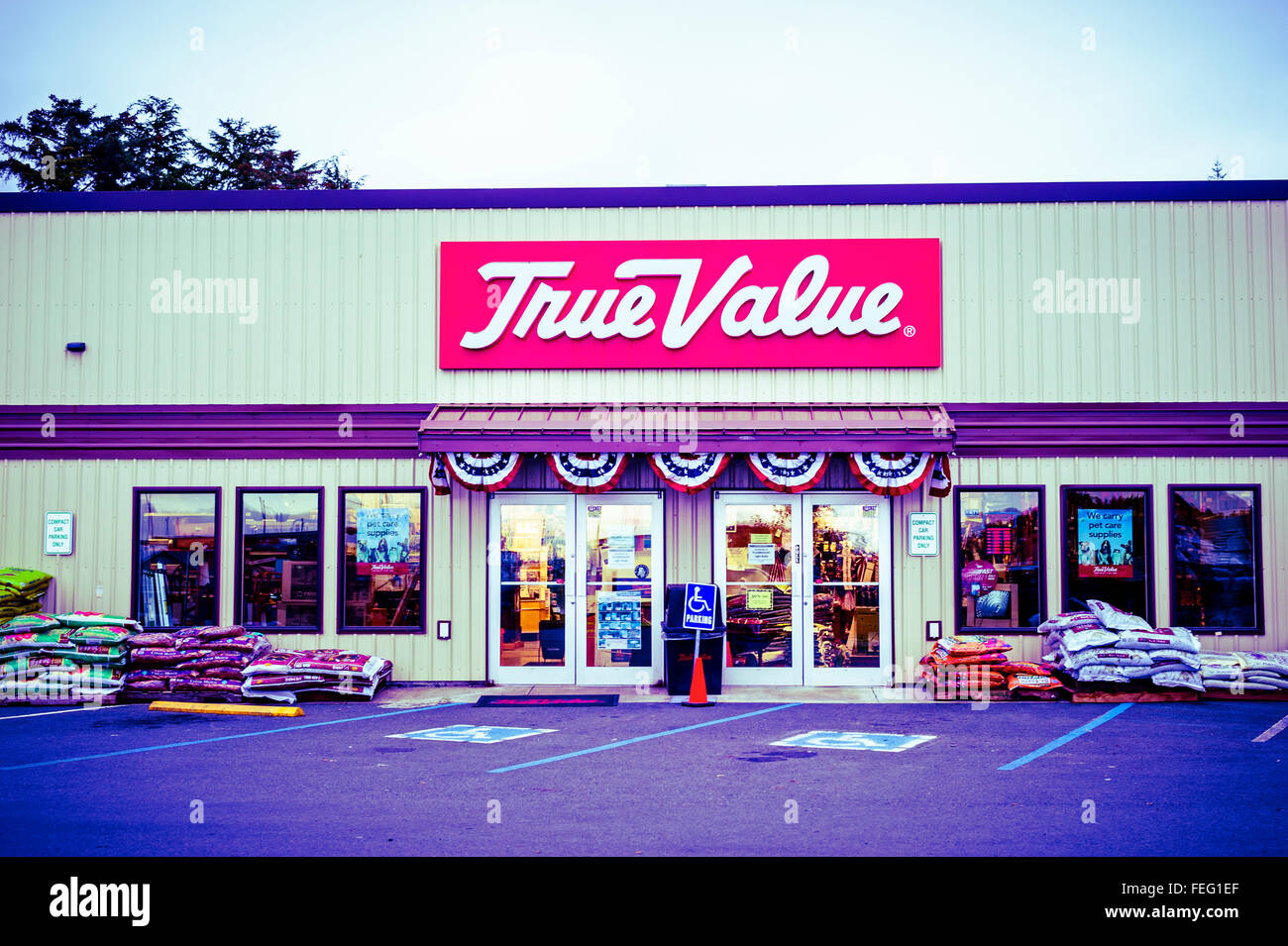 True Value hardware store in Sitka, Alaska, USA.  Photography by Jeffrey Wickett, Northlight Photography, http://www. - Stock Image
