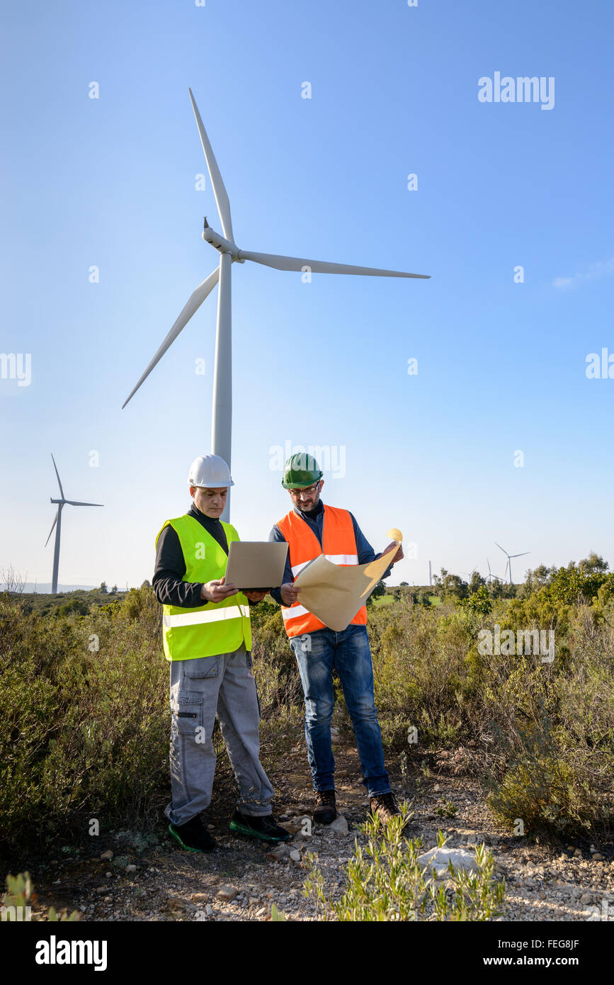 Engineers of wind turbine control projects and production