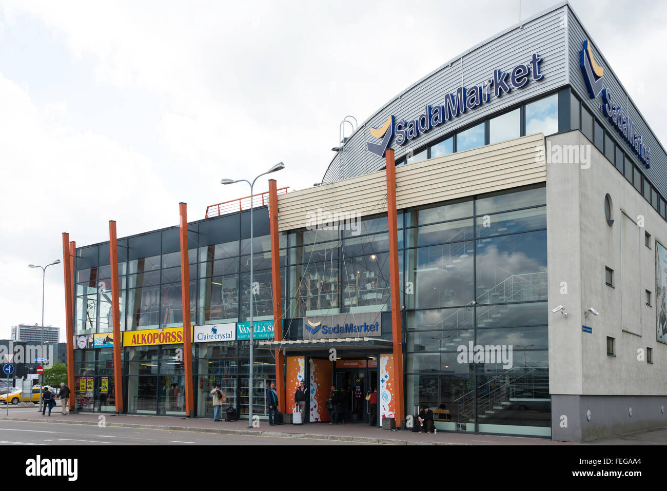 SadaMarket Shopping Centre, Sadama, Tallinn, Harju County, Republic of Estonia - Stock Image