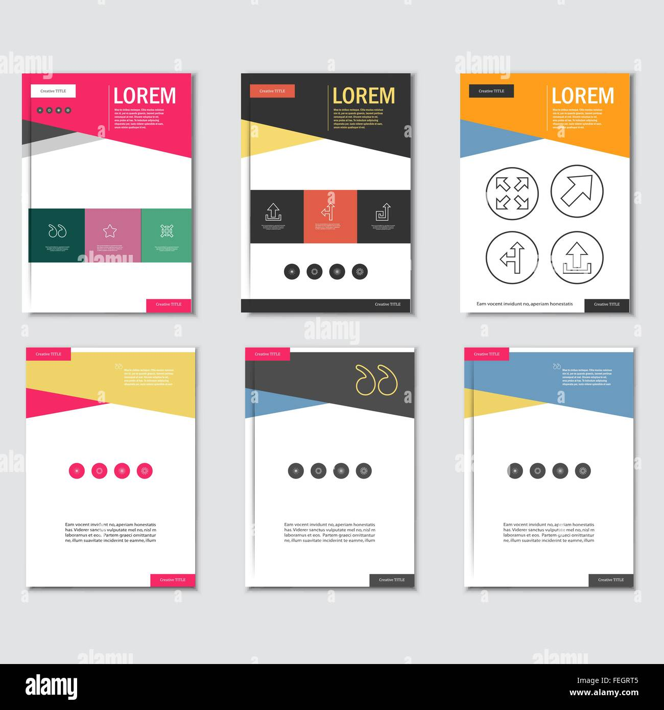 business brochure design template in a4 size with triangular stock