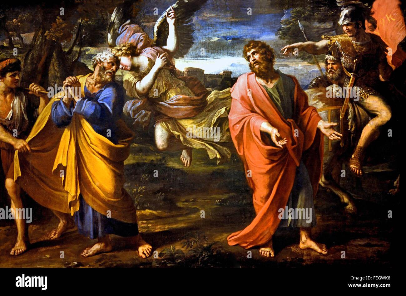 Farewell to St Peter and St Paul by François Perrier 1600-1650 France French ( Two apostles are separated to - Stock Image