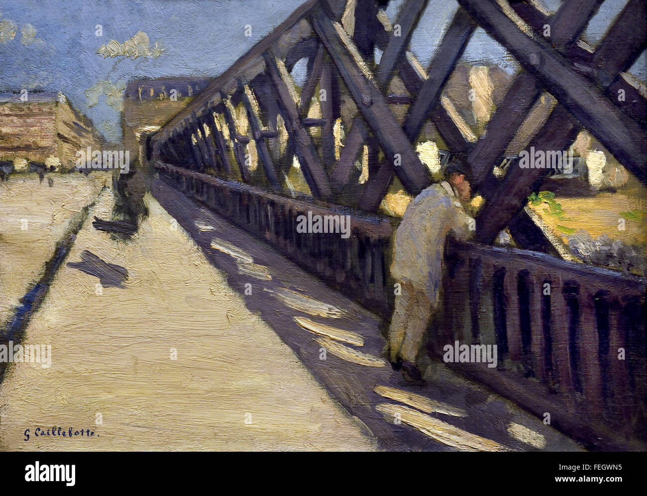 Le Pont de l'Europe by Gustave Caillebotte (1848-1894)  France French - Stock Image
