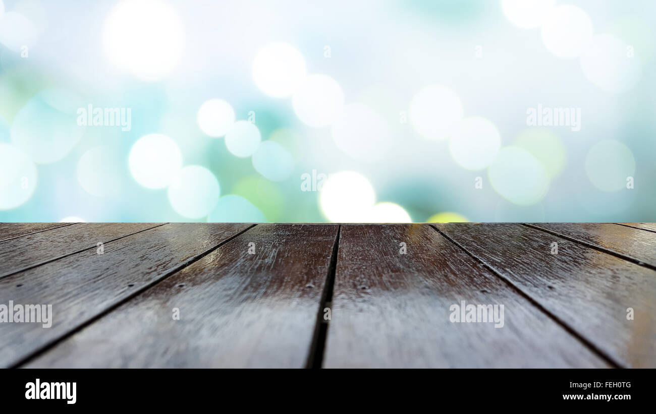 Wooden table texture and beautiful background. - Stock Image