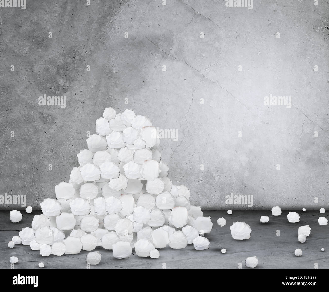 pile of crumpled paper balls stock photo: 95032037 - alamy
