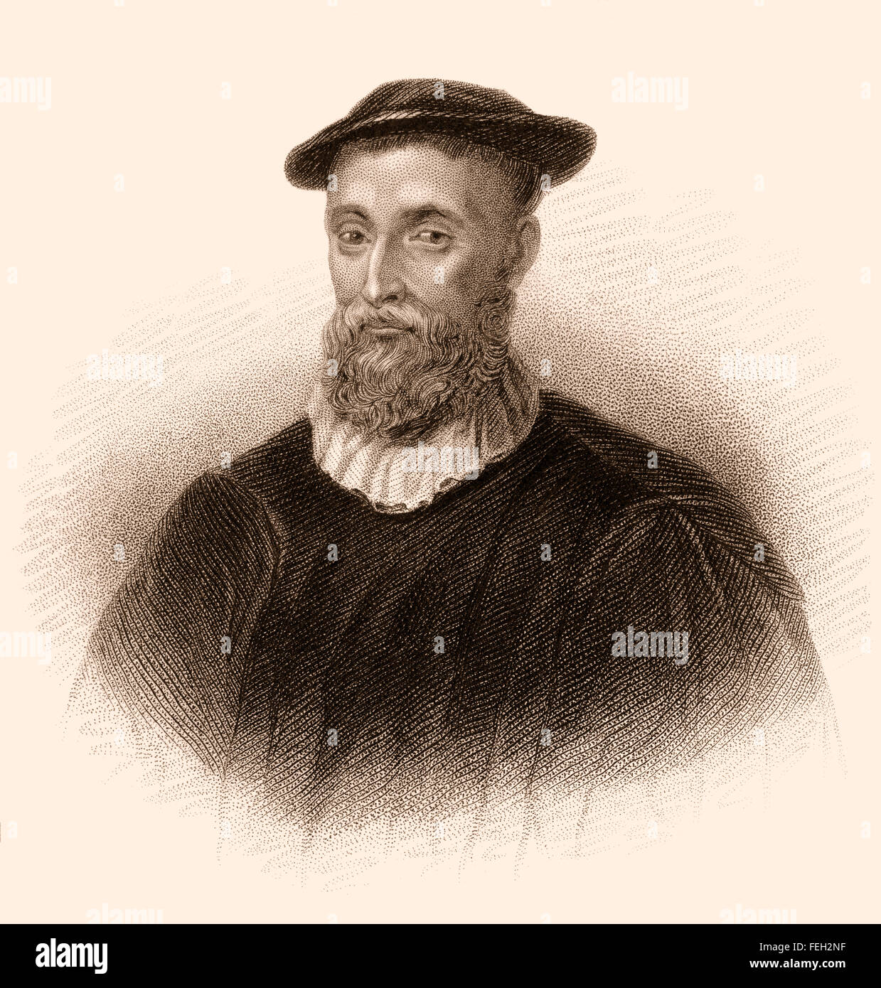 John Knox, c. 1514-1572, a Scottish clergyman, writer and a leader of the Protestant Reformation, - Stock Image