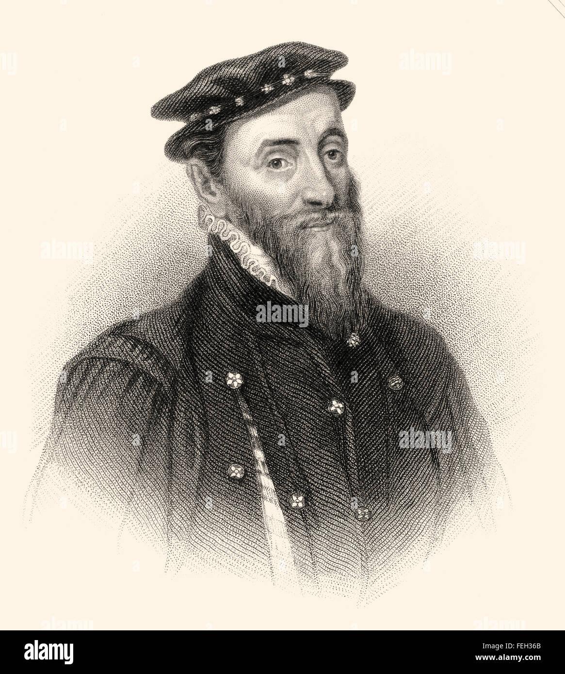 Sir Thomas Gresham the Elder, 1519-1579, an English merchant and financier - Stock Image
