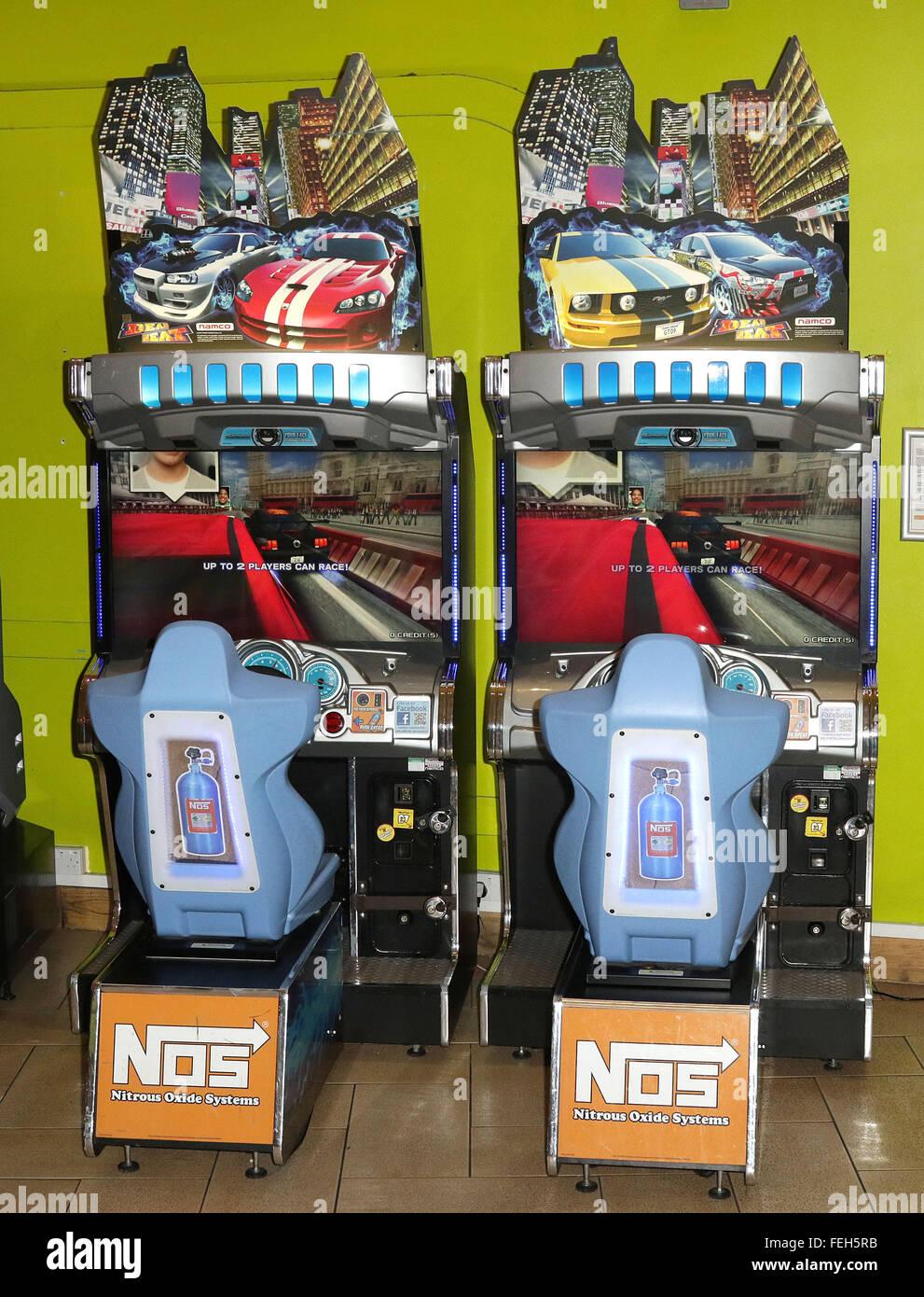 Racing Arcade Machine - Stock Image