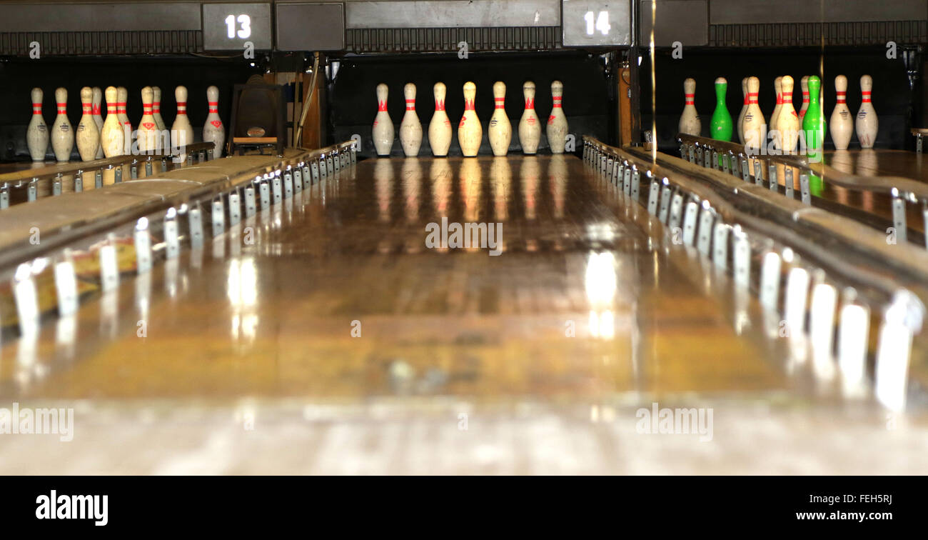 Ten Pin Bowling, Romford, Essex - Stock Image
