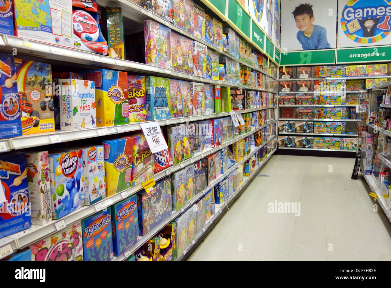 Toys R Us Games : Children board games at a toys r us store in toronto