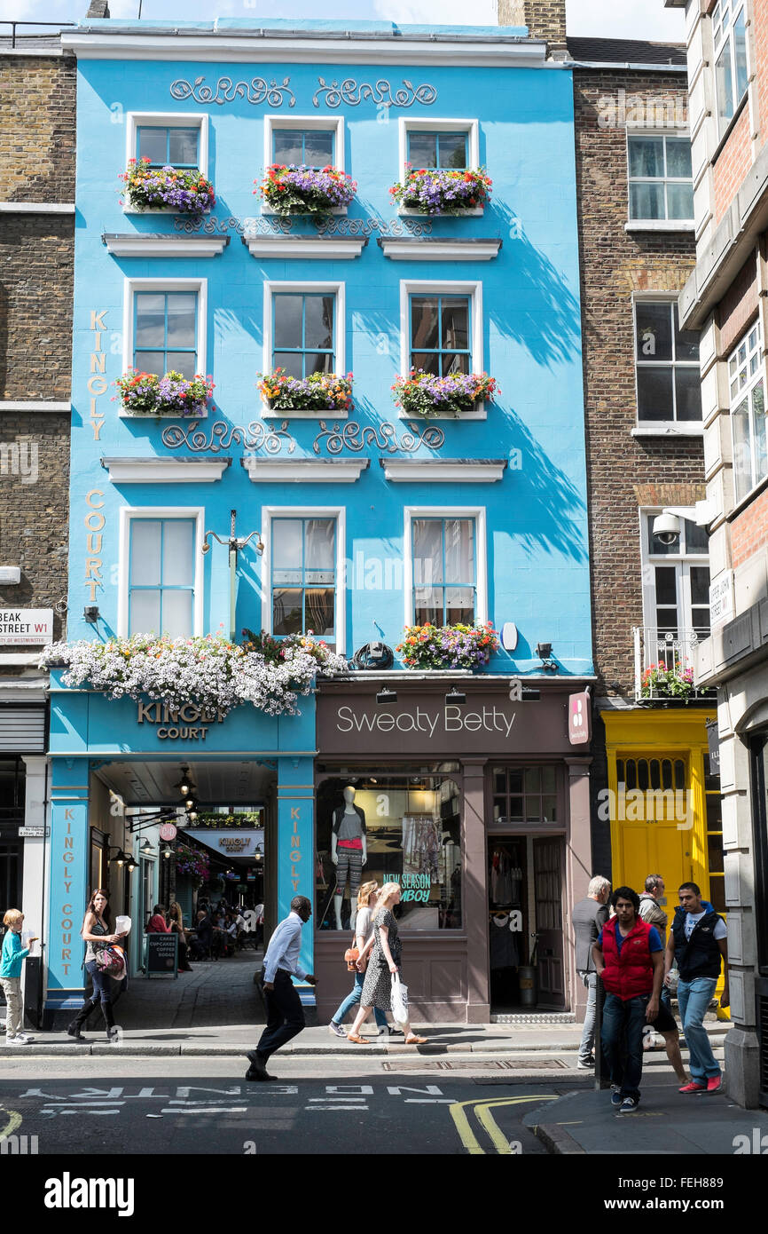 pretty townhouse street London England Britain UK - Stock Image