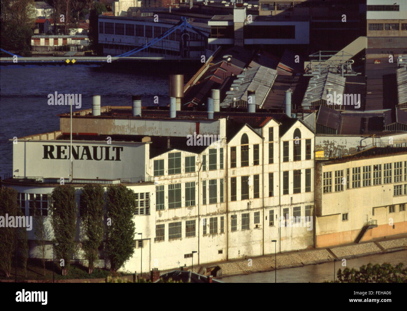 ajaxnetphoto 1990 paris france renault ile seguin stock photo 95038054 alamy. Black Bedroom Furniture Sets. Home Design Ideas